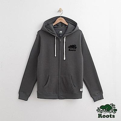 Roots -男裝-原創連帽外套- 灰