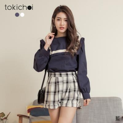 東京著衣 可愛日系女孩水手領造型上衣(共二色)