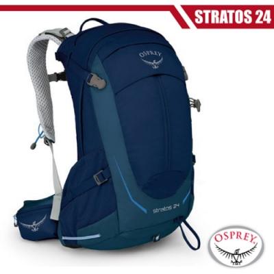 OSPREY 新款 Stratos 24 透氣立體網架健行背包_暗夜藍 R