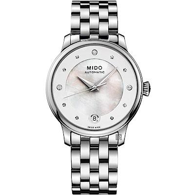 MIDO 美度 BARONCELLI 永恆系系真鑽機械女錶-34mm
