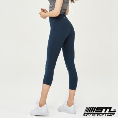 STL Leggings Seven Days 7 韓國 中低腰 運動瑜珈 緊身壓力7分拉提褲 底色午夜藍