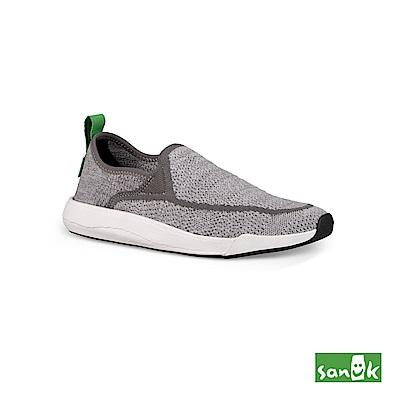 SANUK CHIBA QUEST KNIT編織素面拉環設計休閒鞋-中性款(灰色)1091090 GREY