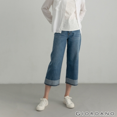 GIORDANO 女裝四季百搭直筒牛仔褲 - 63 淺藍
