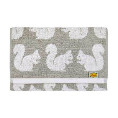 日本丸真 Anorak英倫設計款毛巾-松鼠