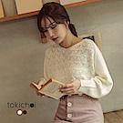 東京著衣 法式甜美多色寬袖針織上衣-S.M(共二色)