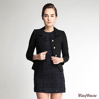 KeyWear奇威名品    精緻名媛社交長袖外套-黑色