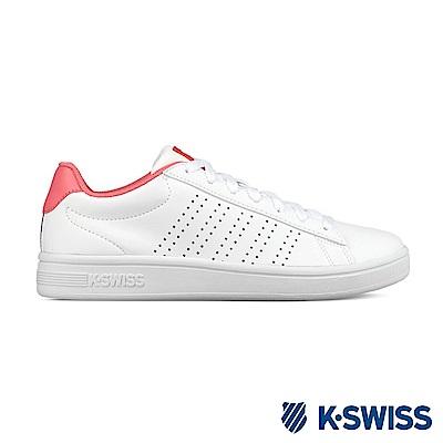 K-SWISS Court Casper S時尚運動鞋-女-白/粉紅