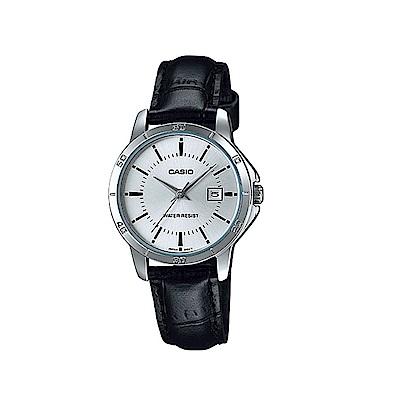 CASIO 都會白領羅馬指針皮帶錶-銀面(LTP-V004L-7A)/30.2mm
