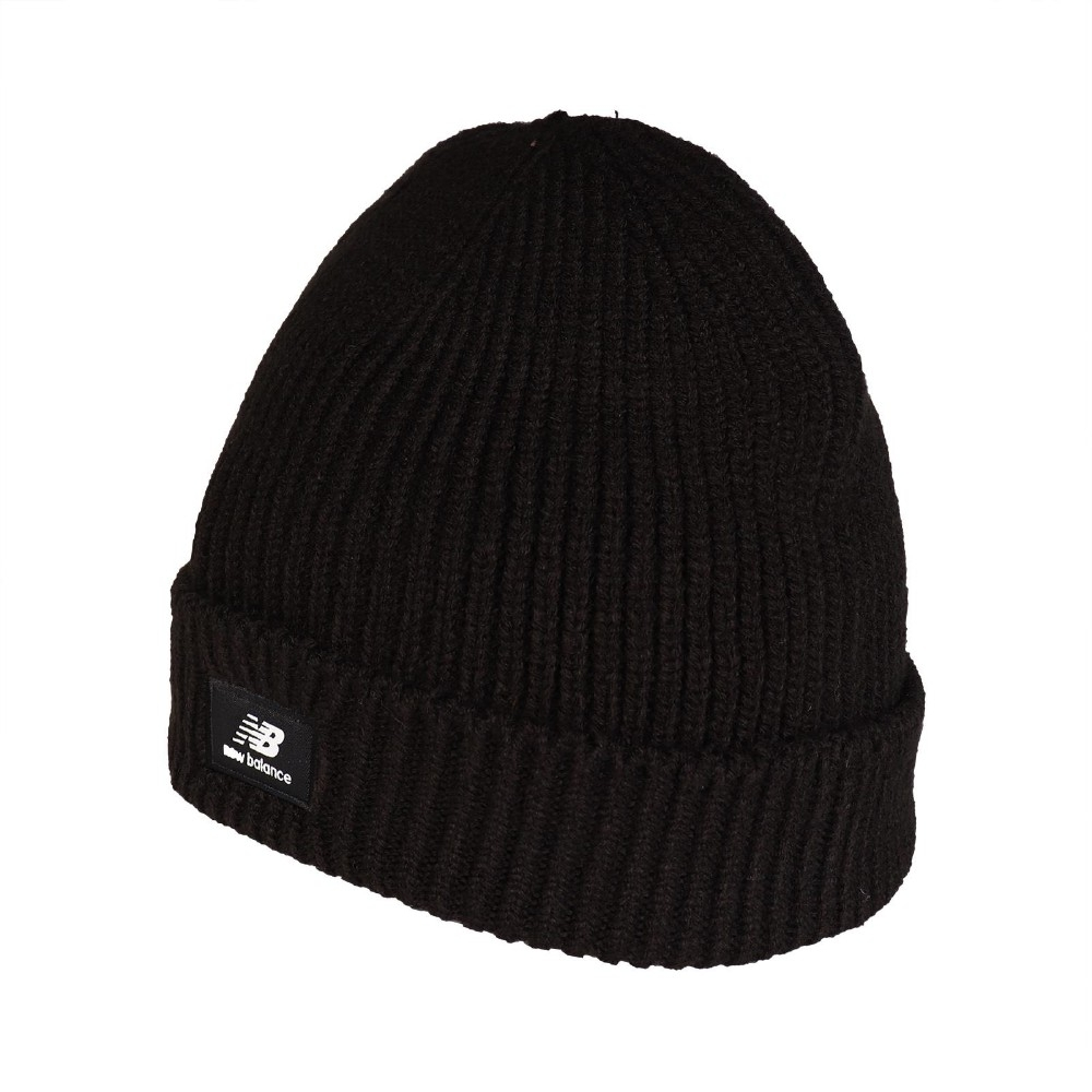 New Balance 毛帽 Logo Beanie 男女款 紐巴倫 保暖 穿搭 基本款 冬季必備 黑 白 LAH03013BK