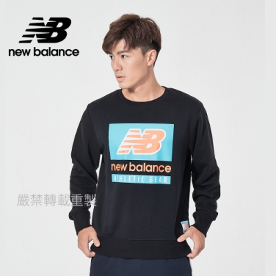 [New Balance]圓領針織長袖_男款_黑色_AMT11515BK