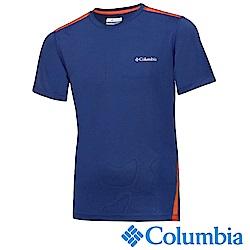 Columbia哥倫比亞 男款-快排短袖上衣-藍色 UAE12920BL