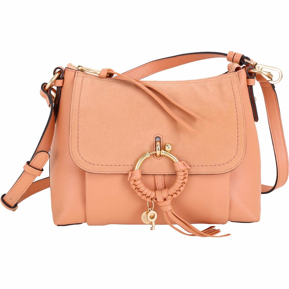 SEE BY CHLOE Joan 小型 編織金屬圈拼接皮革兩用包(峽谷色) @ Y!購物