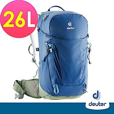 【deuter德國】TRAIL 26L 輕量拔熱透氣背包3440319藍/登山健行包