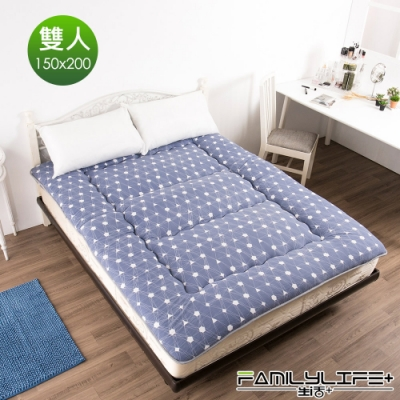 【FL生活+】日式加厚8cm雙人床墊(150*200cm)-夢幻幾何(FL-109-B)