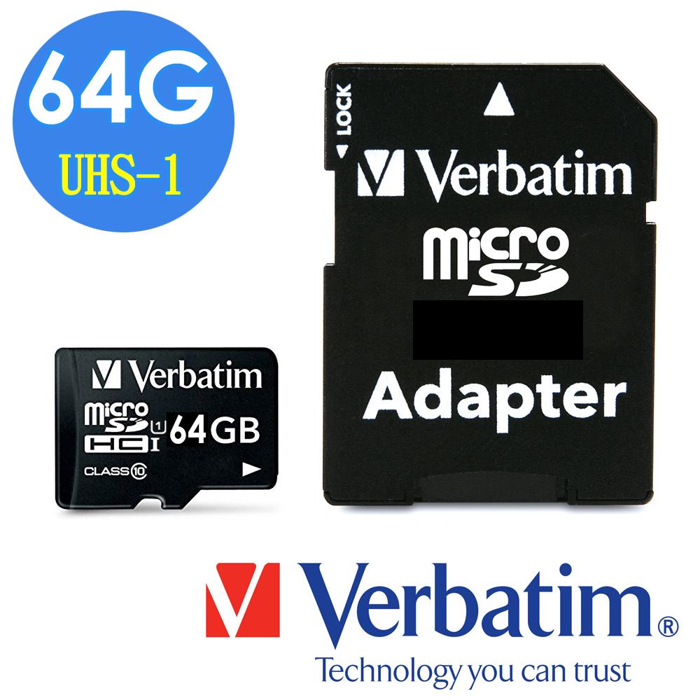 Verbatim 威寶 64GB Micro SDXC UHS-1 記憶卡 (含轉卡) @ Y!購物