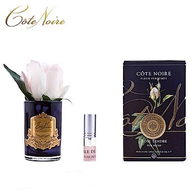 法國 CoteNoire 蔻特蘭 小朵粉白玫瑰香氛花黑瓶