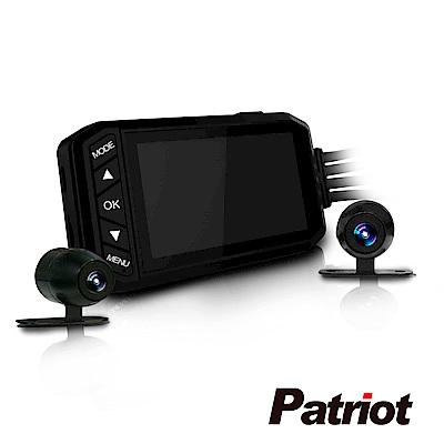 愛國者F3 前後Full HD 1080P 金屬防水機車雙鏡行車記錄器-快