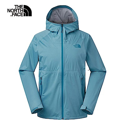 The North Face北面男款藍色防水透氣衝鋒衣 3RKI4Y3