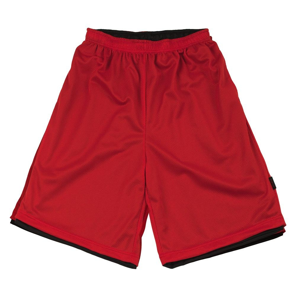 【FIVE UP】男款雙面穿吸排籃球褲-紅