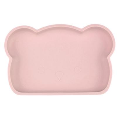 新加坡bopomofo 小熊矽膠餐盤-煙灰粉