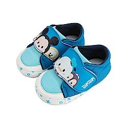 迪士尼童鞋 TsumTsum 米奇唐老鴨 手工學步鞋-藍