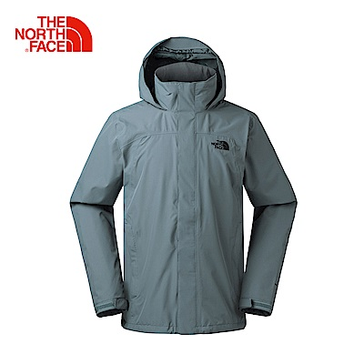 The North Face北面男款深灰色防水透氣風衣|2UBLUBS