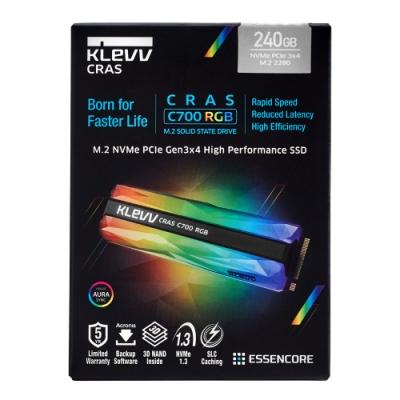 KLEVV科賦 CRAS C700 RGB SSD M.2 2280 PCIe NVMe 240GB