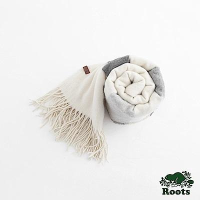 Roots-配件- 艾爾克混羊毛圍巾 - 白色