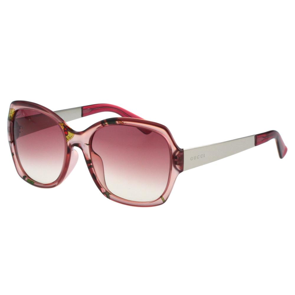 GUCCI-花卉絲巾 太陽眼鏡(粉紅色) 原廠盒(為福利品)另加購