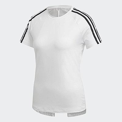 adidas T恤 D2M 3-Stripes Tee 女款