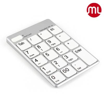 【morelife】藍牙USB雙功能數字鍵盤-銀白WKP-3170S