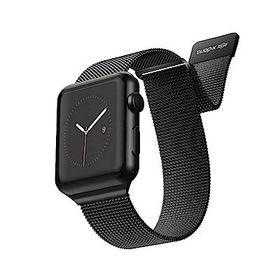 x-doria Apple Watch 42/44mm 米蘭尼斯不鏽鋼錶帶 - 曜石黑