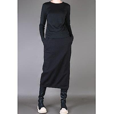 韓版素色長袖圓領秋冬百搭T恤-設計所在 MP1637