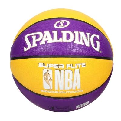 SPALDING NBA SUPER FLITE系列#7號合成皮籃球-7號球 斯伯丁 SPA76658 紫黃白