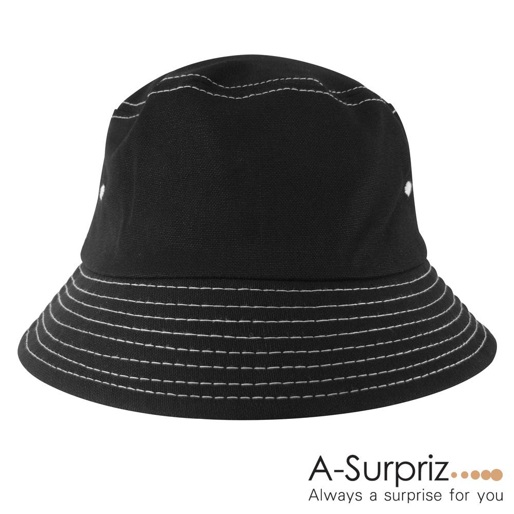 A-Surpriz 韓風純色漁夫帽(黑)