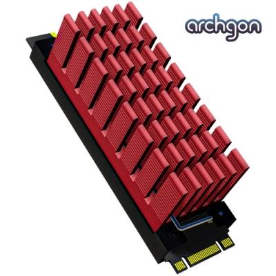 archgon亞齊慷 M.2 2280 SSD 散熱片組 HS-0130-R(紅)