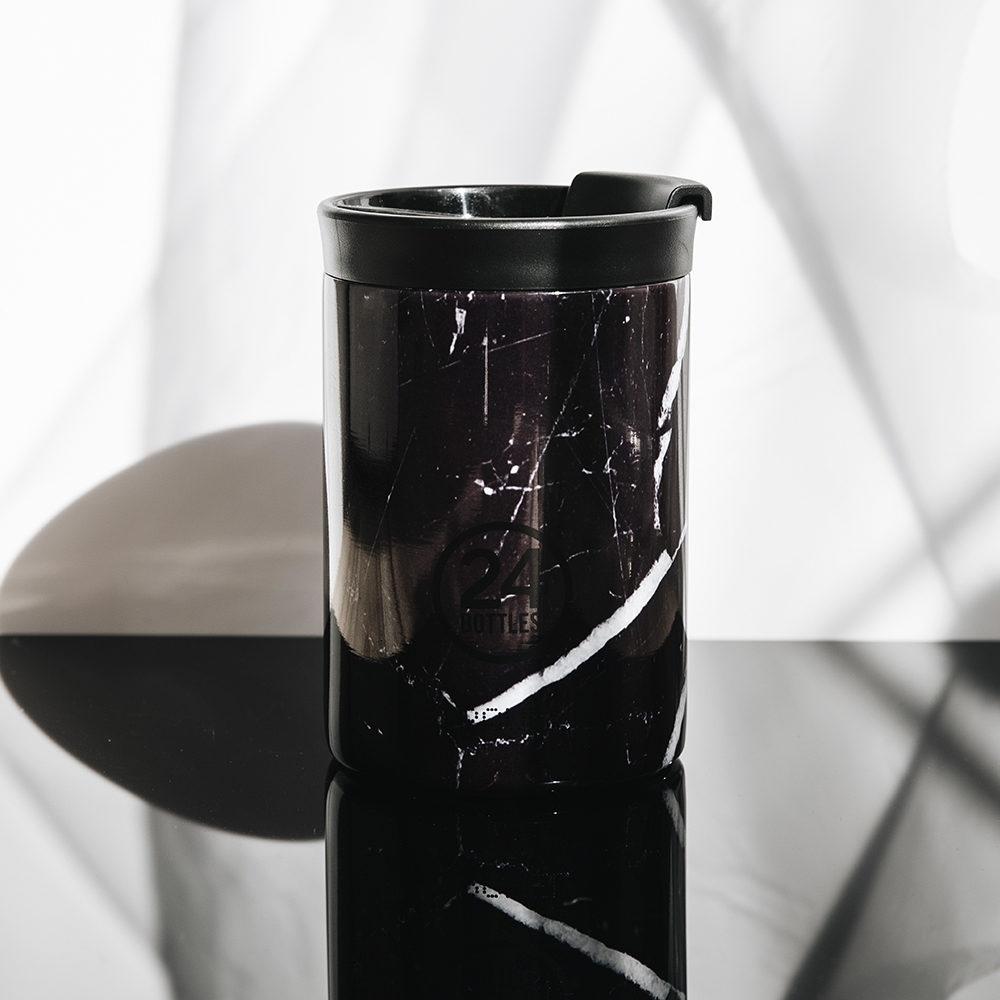 義大利24Bottles 保溫隨行杯 350ml - 黑雲石