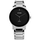 CITIZEN  BE9180-52E 簡約時尚 不鏽鋼手錶-黑x銀/42mm
