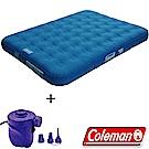 Coleman 31957+17662 ED氣墊床QUEEN+打氣機組合 露營充氣床