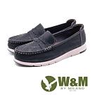 W&M 縫線裝飾休閒樂福鞋 女鞋 - 黑(另有棕)