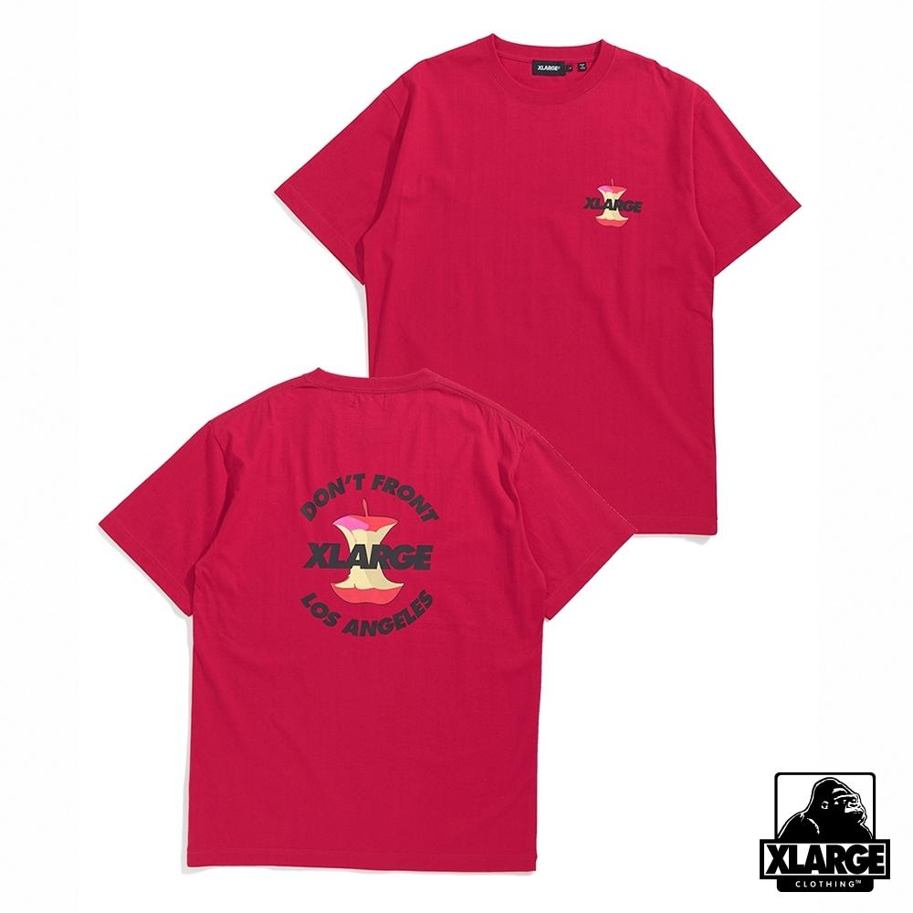 XLARGE S/S TEE APPLE短袖T恤-桃紅