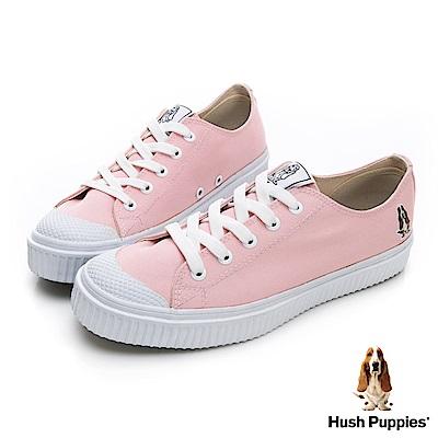 Hush Puppies 韓系粉彩咖啡紗餅乾鞋-粉紅