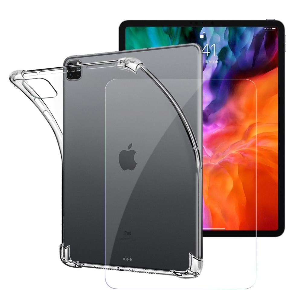 CITY for 2020 iPad Pro 12.9吋 平板5D 4角軍規防摔殼+專用版9H鋼化玻璃保護貼組合