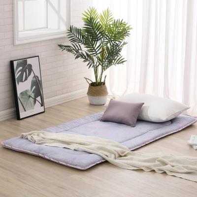 LAMINA 恬靜山居100%精梳棉日式床墊5cm-紫(單人)