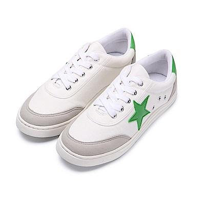 BuyGlasses 經典三色星星運動休閒鞋-綠