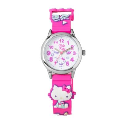 HELLO KITTY凱蒂貓 繽紛霓虹兒童手錶-桃紅/30mm