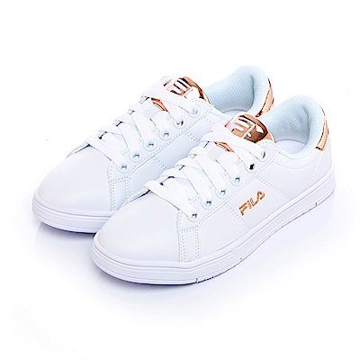 FILA #水果蘇打 女款潮流復古綁帶鞋-金 5-C604S-810