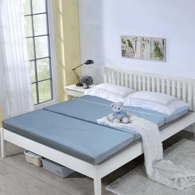 戀香 台灣製造可拆式三折收納單人(3x6.2尺)彈簧床墊 睡墊