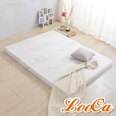LooCa 法國防蹣防蚊透氣輕釋壓11cm記憶床墊-雙人5尺