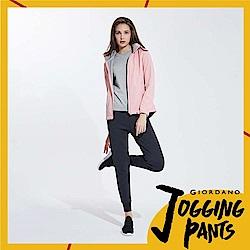 GIORDANO 女裝雙面空氣層運動口袋休閒束口褲-11 標誌黑